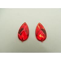 strass goutte rouge 22 mm, Idéal pour vêtement, pochette, sac..., vendu par 10 pièces