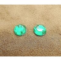 strass rond vert, 8 mm, Idéal pour vêtement, pochette, sac...vendu par 10 pièces