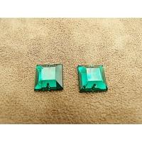 strass carré vert,12 mm, convient pour vêtement, pochette, sac., vendu par 10 pièces