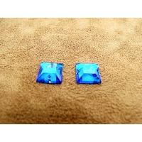 strass carré bleu,10 mm, idéal pour vêtement, pochette, sac., vendu par 10 pièces