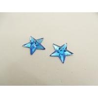 strass etoile bleu,16 mm, parfait pour vêtement, pochette, sac...., vendu par 10 pièces