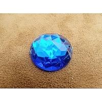 strass rond bleu,25 mm, sublime pour vêtement, pochette, sac...vendu à la pièce