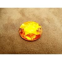 Strass rond orange,25 mm,sublime pour vêtement, pochette, sac.., vendu à la pièce