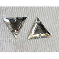 Strass triangle argent 17 mm