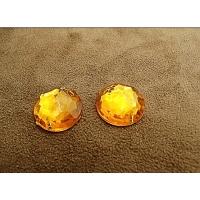 Strass rond orange,18 mm,sublime pour vêtement, pochette, sac.., vendu à la pièce