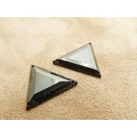 strass triangle noir, 26 mm, idéal pour vêtement, pochette, sac...., vendu par 10 pièces