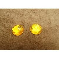 Strass rond orange,15 mm,sublime pour vêtement, pochette, sac.., vendu par 10 pièces