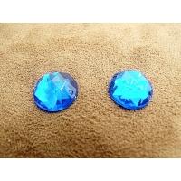 strass rond bleu  foncé,15 mm, vendu par 10 pièces