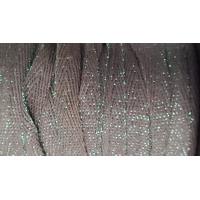 NOUVEAUX ruban sergé coton lurex vert,1 cm