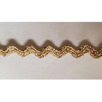 NOUVEAU ruban serpentine doré ,5 mm, vendu par 5 metres