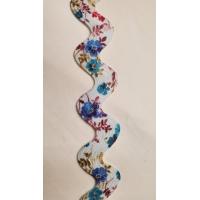 NOUVEAU ruban serpentine multicolore fleuri ,2.5 cm