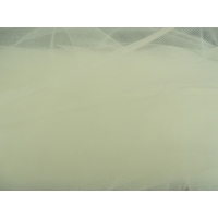 TULLE FIN COULEUR BLANC CASSEE