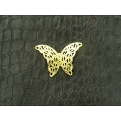 papillon relief doré