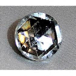 col V à  coudre  perles et cubes gris/bronze