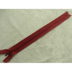 ruban franges perlé- violet