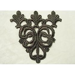 coton polyester & coton - 4mm- vert/:gris