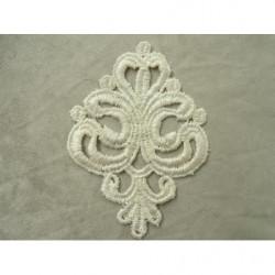 cordon polyester & coton- 6mm- violet