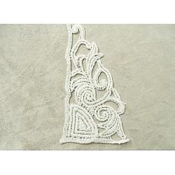 Cordon moucheté fluo en polyesther  - rose