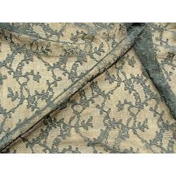 écusson rosace - à coudre- noir - motif strass- rose et orange