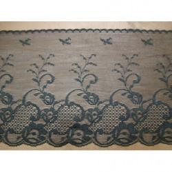 bouton carré crème et or