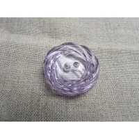 bouton acrylique  a 2 trous - violet transparent