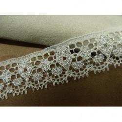 bouton carré- argent strié