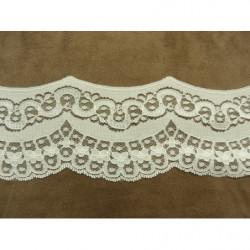 COLS PERLES-Applique ETHNIQUE 1/2 ovale - perles rocailles multicolores