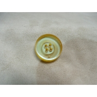 BOUTON POLYESTER A 4 TROUS- JAUNE