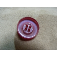 BOUTON POLYESTER A 4 TROUS- ROSE