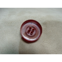 BOUTON POLYESTER A 4 TROUS- ROUGE