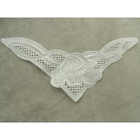 COL BRODERIE ANGLAISE BLANC