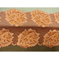 DENTELLE DE CALAIS- 11cm- ORANGE