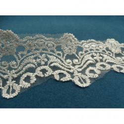 FERMETURE SEPARABLE-GROSSE MAILLE-60 cm -GRIS