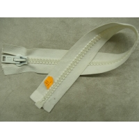 FERMETURE SEPARABLE- GROSSE MAILLE-40 cm- BLANCHE