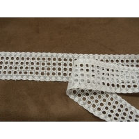 BRODERIE ANGLAISE- 3,5 cm- BLANCHE