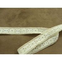 BRODERIE ANGLAISE ENTRE 2 -1,7 mm- ECRU