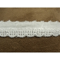 BRODERIE ANGLAISE-1,5 cm- BLANCHE