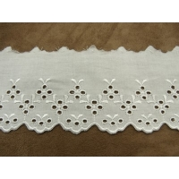 BRODERIE ANGLAISE-7 cm / 4,5 cm- BLANCHE