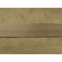 RUBAN BIAIS- 20 mm INTERIEUR /10 - 10 mm- COTON - MARRON BEIGE