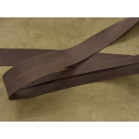 RUBAN BIAIS- 20 mm INTERIEUR /10 - 10 mm- COTON - MARRON FONCE