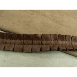 RUBAN SKAI froncé-2,5 cm - MARRON