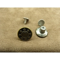 BOUTON JEAN 'S - 15 mm- BRONZE