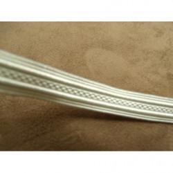 PERLES ACRYLIQUE Blanche  légèrement rose -0,6 cm pour bijoux