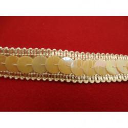 tissu coton imprimé arbre fleuri blanc & vert