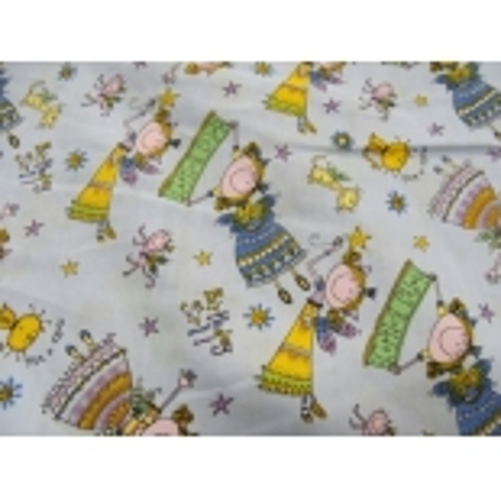tissu coton imprimé happy birthday FILLETTE- PARME