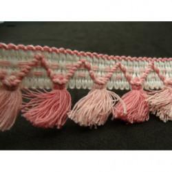 tissu coton imprimé vert d'eau- à pois blanc