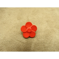 BOUTON Motif petite fleur- rouge