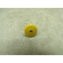 BOUTON motif petit strass- jaune