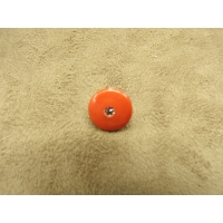 BOUTON motif petit strass- rouge / oranger