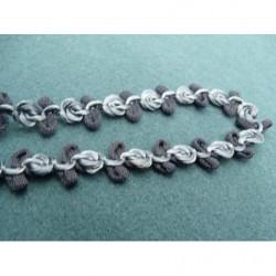 BOUTON motif petit strass- rose